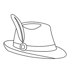 Tirol hat icon outline style vector image