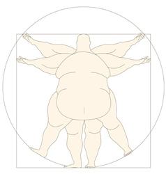 Conceptual modern icon Vetruvian man basis of vector image