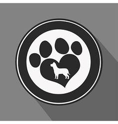 Love Paw Print Icon vector image vector image