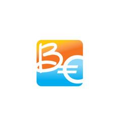 modern logo solution letter be vector image