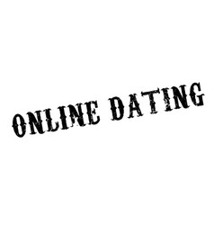 online dating rubber stamp vector image