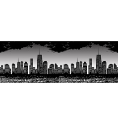 Seamless Pattern of Cities vector image vector image