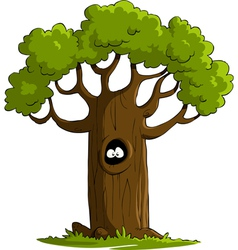 tree with eyes vector image vector image