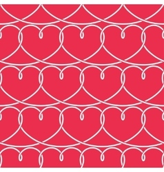 Valentines Day Pattern Hearts Background vector image vector image