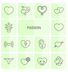 14 passion icons vector