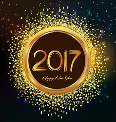 2017 shiny New Year Clock background vector