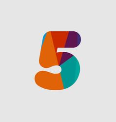 5 diamond font template design vector