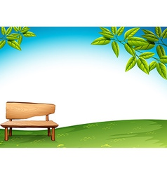 A wooden bench vector image
