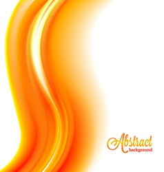 Abstract blurred orange flame background vector