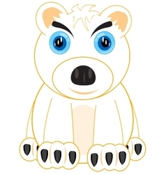 Animal polar bear vector image