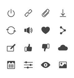 Basic Interface Icons vector image