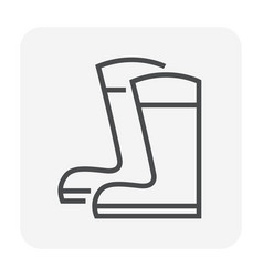 boot icon black vector image