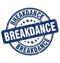 breakdance stamp vector image