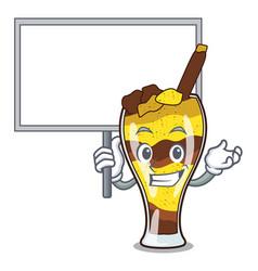 Bring board mangonada fruit character cartoon vector