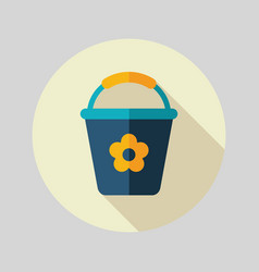 Bucket flat icon vector