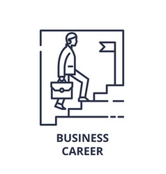 business career line icon concept business career vector image