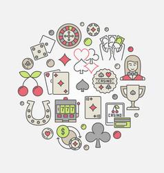 casino circular concept symbol vector image