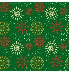 Christmas seamless pattern Red orange white vector image