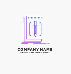 Code edit editor language program purple business vector