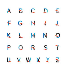 collection full alphabet from a to z as initial vector image