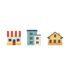 collection of suburban private houses house vector image