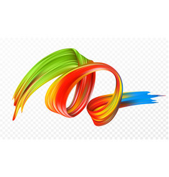 Color brushstroke oil or acrylic paint design vector