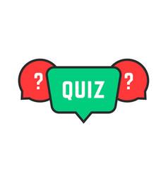 Colored simple quiz icon vector