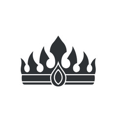 Crown with gem and sharp spires in gothic style vector