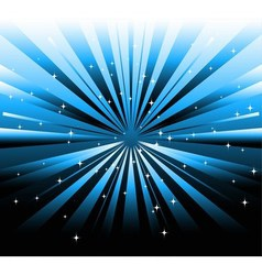 dark background and blue ray with star vector image