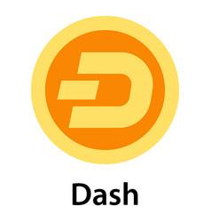 dash icon flat style vector image