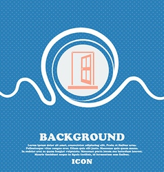 Door Enter or exit icon sign Blue and white vector image