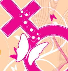 female icon background vector image