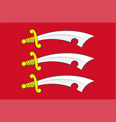Flag essex in england vector