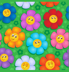 Flowery seamless background 8 vector