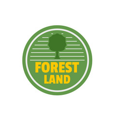 Forest new land logo flat style vector