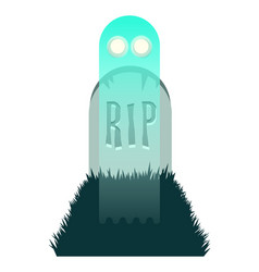 ghost rising from grave vector image