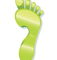 Glossy Foot Print Icon vector image