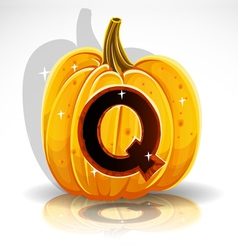 Halloween Pumpkin Q vector image