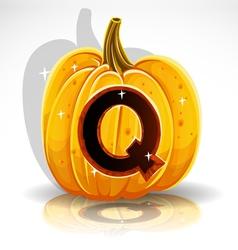 Halloween Pumpkin Q vector