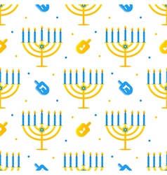Hanukkah holiday seamless pattern background vector