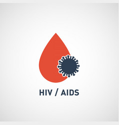 hiv aids virus logo icon design vector image