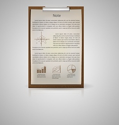 icon for notepad for economic vector image