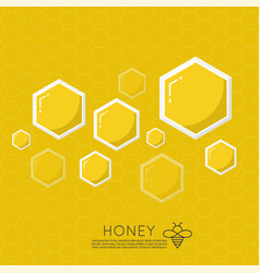 icon honeycomb vector image