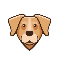 Labrador Retriever Dog Head Icon vector