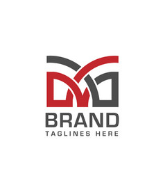 letter m logo template vector image