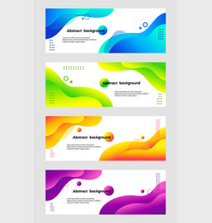 liquid abstract backgrounds set fluid vector image