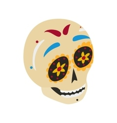 Mexican skull icon isometric 3d style vector image