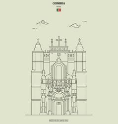 mosteiro de santa cruz in coimbra portugal vector image