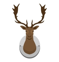 mounted deer head vector image