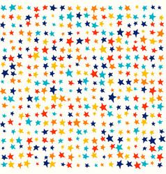 multicolor bright stars random vivid colors vector image